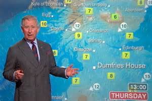 Weather News Prince Charles Steps Onto The News Set During Visit