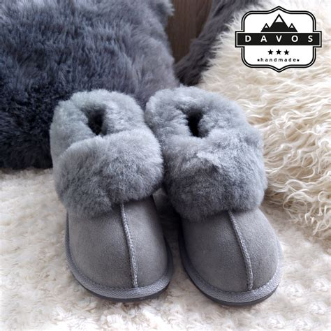 Handmade Sheepskin Slippers - women s luxury handmade 100 genuine sheepskin suede fur