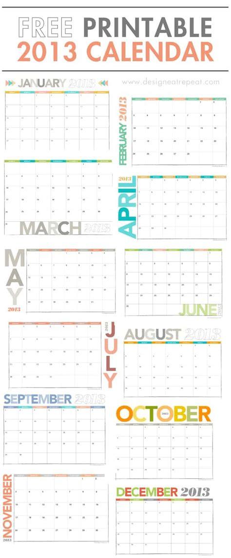 design eat repeat calendar printable 2013 calendar