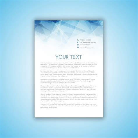 Business Letterhead Vector Free Business Letterhead With Polygonal Design Vector Free