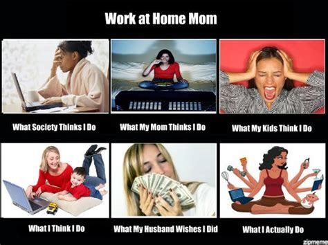 Working Mom Meme - what it is like being a work from home mom from the baby