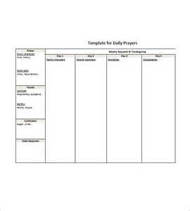Printable Prayer List Template Prayer List Template 8 Free Word Excel Pdf Format