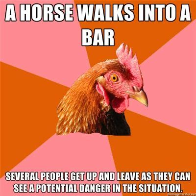 libro a horse walks into anti joke chicken a horse walks into a bar several people get up and leave as they can see a