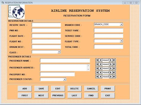 design online ticketing system airline reservation program for visual basic csbackup