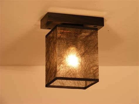 Wood Ceiling Light by Basari Ceiling Light Wenge Brown Square Wood Base One