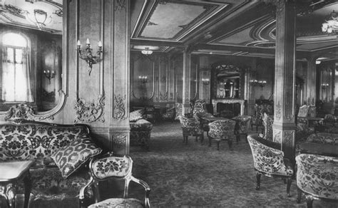 titanic first class the first class lounge on the rms titanic 1912 vintage