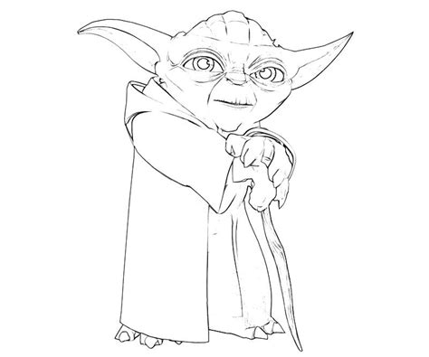 coloring page yoda free coloring pages of yoda