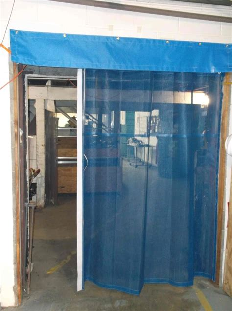 garage door curtain mesh curtains bug screens for industrial garage doors