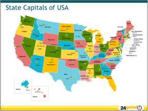 usa map with capitals images u s geography