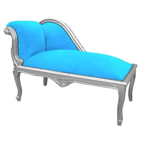 turquoise blue chaise lounge louis xv chaise longue turquoise blue velvet fabric and