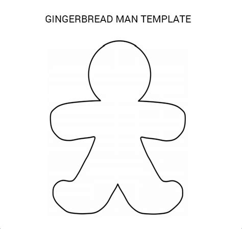 printable template of a gingerbread man gingerbread man 8 documents in pdf psd vector