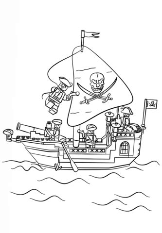 barco pirata lego ninjago lego pirate ship coloring page free printable coloring pages