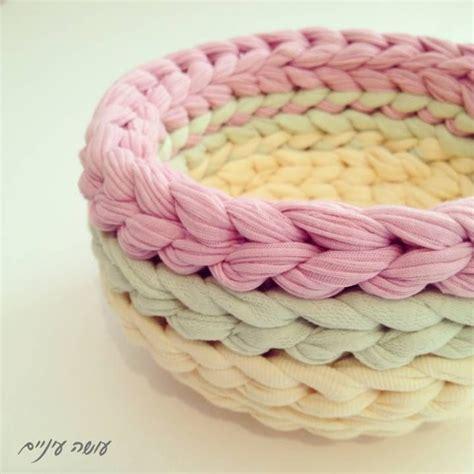 t shirt yarn basket pattern 1000 images about crochet basket bowls on pinterest