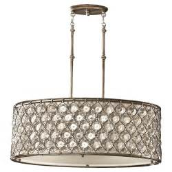 Drum Pendant Lighting Three Light Creamfabric Shade Burnished Silver Drum Shade Pendant Fgeh Carol S Lighting
