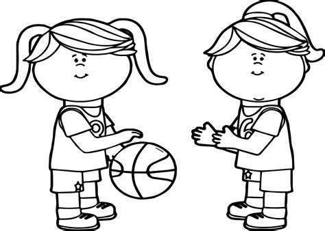 coloring page of boy playing basketball little boy playing basketball coloring page coloring