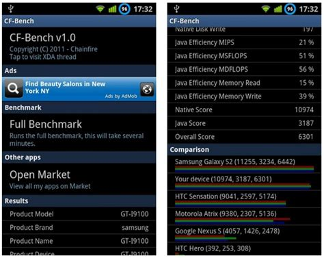 bench app cf bench app for android may give more stable benchmark