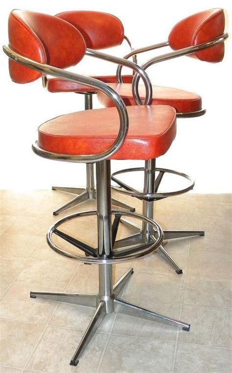 vintage chromcraft bar stools chromcraft mid century modern vintage high back by