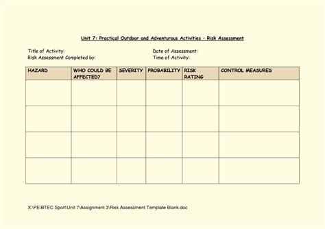 Risk Management Form Template by Photo Risk Management Form Template Images