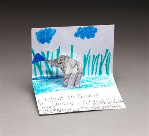 Pop Up Papercraft - elephant pop up craft crayola