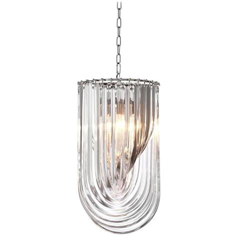 Acrylic Chandeliers Chandelier Murano In Acrylic Glass And Nickel Structure For Sale At 1stdibs