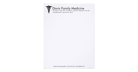 doctor letterhead template professional personalized doctor s stationery letterhead