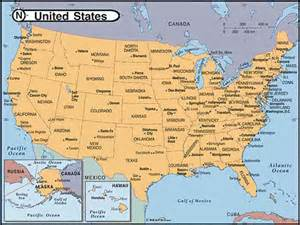 us map with cities and states maps of united states of america