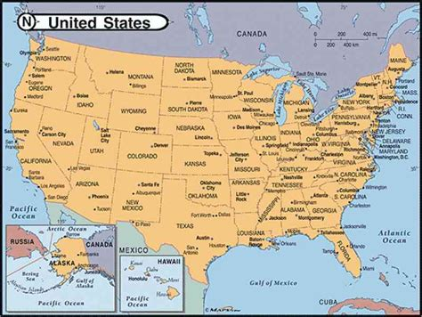 map of the untied states maps of united states of america
