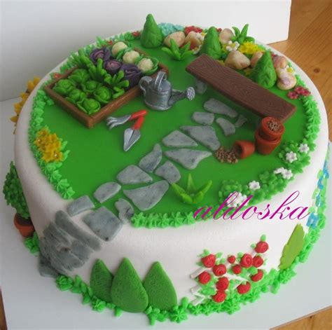 Gardening Cake Cake Ideas For Grandchildren Pinterest Vegetable Garden Cake Ideas
