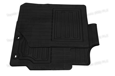 Toyota Rubber Car Mats Genuine Toyota Tailored Car Rubber Floor Mats Set Yaris 07