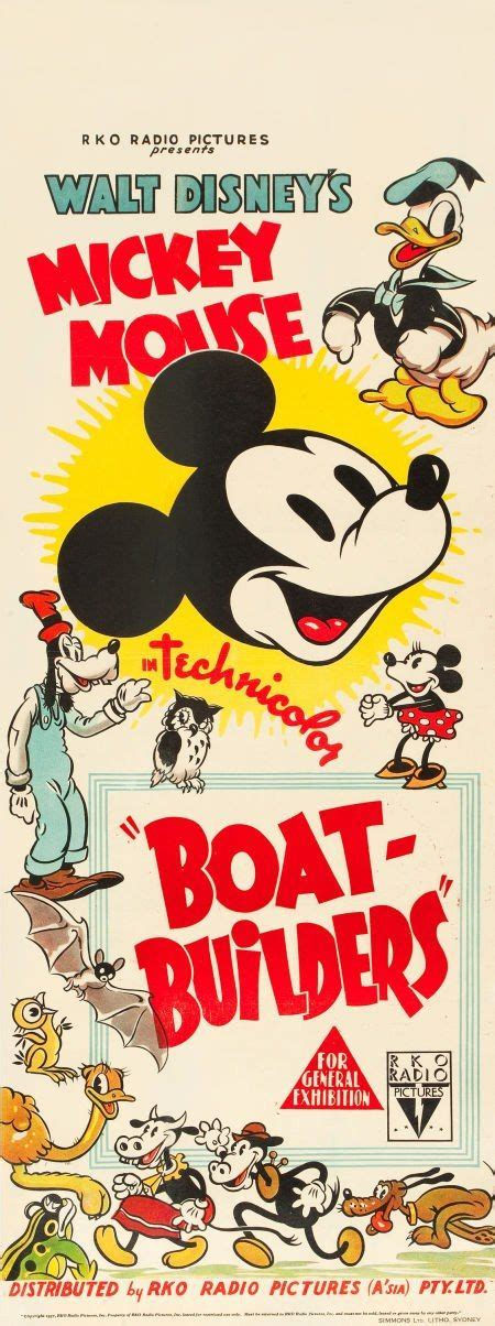 cartoon boat builder mickey mouse boat builders disney classic posters