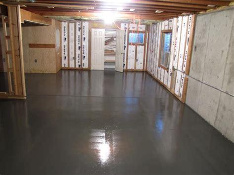 dark painted concrete floor google search basement
