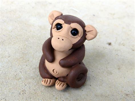 Monkey Handmade - monkey handmade miniature polymer clay animal by animalitoclay