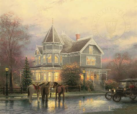 painting of houses christmas memories limited edition art the thomas