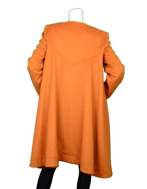 orange swing coat fendi burnt orange cashmere swing coat sz 42 for sale at