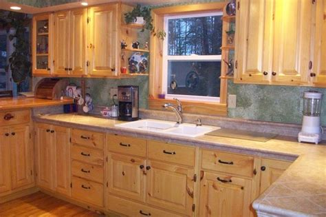 knotty pine kitchen cabinets for the home