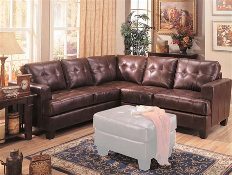 coaster samuel sectional sofa brown 500911 at homelement