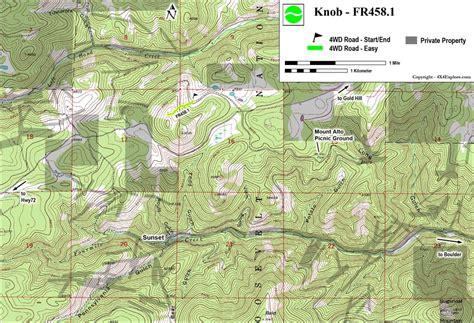 Knob Hill Trail Map by 4x4explore Knob