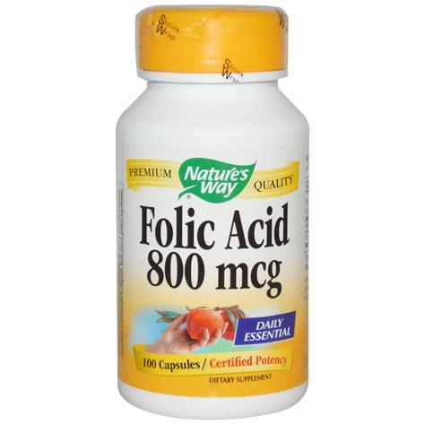 Mcg For Methhet Detox F Folate Supplements by Nature S Way Folic Acid 800 Mcg 100 Capsules Iherb