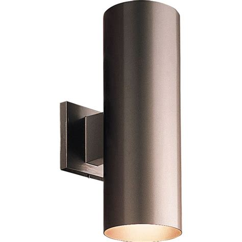 Progress Lighting Outdoor Wall Sconce Progress Lighting P5675 20 Antique Bronze Cylinder 2 Light Outdoor Wall Sconce With Metal
