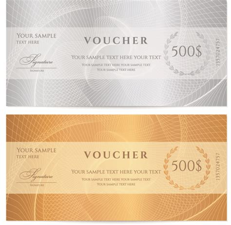 templates for vouchers design exquisite vouchers template design vector set 03 vector