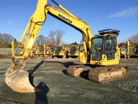 zero tail swing excavator komatsu 138 for sale thirteen ton zero tail swing