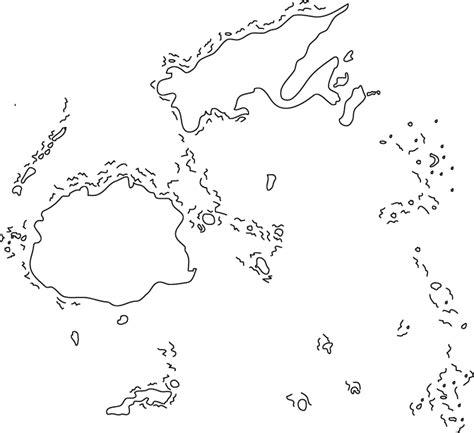 oceania outline map fiji outline map