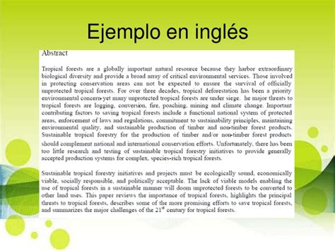 que es resume en ingles como hacer un abstract