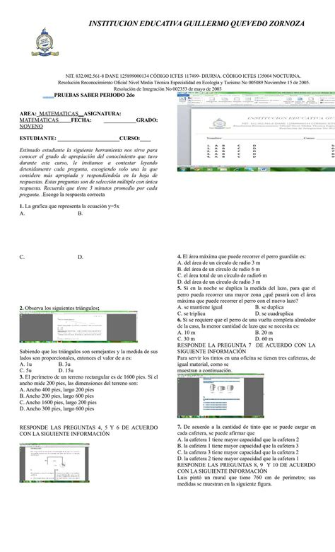 preguntas de matematicas tipo icfes para grado 6 calam 233 o pruebas tipo icfes