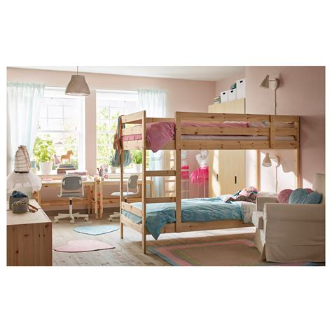 Mydal Bunk Bed Frame Pine 90x200 Cm Ikea Ikea Wooden Bunk Bed