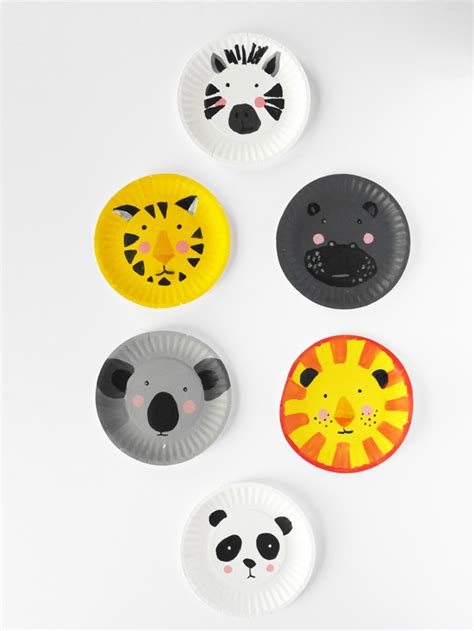 Paper Plate Hello hello wonderful diy animal paper plate faces