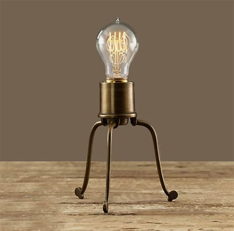 Edison Bulb Table L Antique Copper And Edison Bulb Table L Contemporary Table Ls New York By