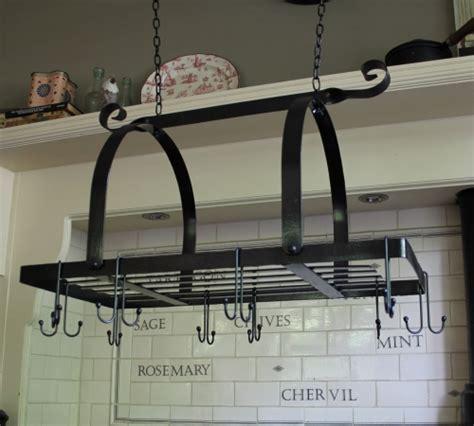 Kitchen Hanging Rack Black Metal Hanging Pan Rack Kitchen Utensil Accessory