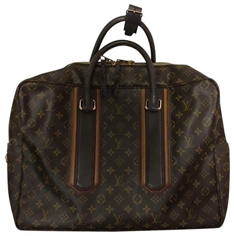 louis vuitton monogram black macassar pegase  carry