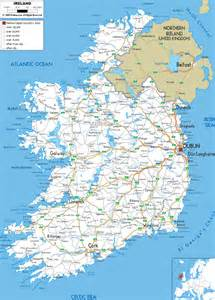 road map with cities maps of ireland detailed map of ireland in